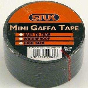Mini Gaffa Tape Black 48mm x 10m