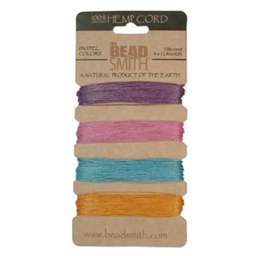 Hemp Cord 0.55Mm 10 Lb Pastel Colours
