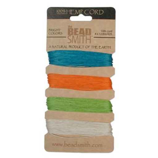 Hemp Cord 0.55Mm 10 Lb Bright Colours