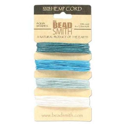 Hemp Cord 0.55Mm 10 Lb Aqua Shades