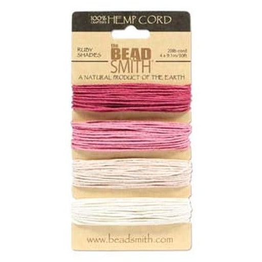 Hemp Cord 1.0Mm 20 Lb Ruby Shades