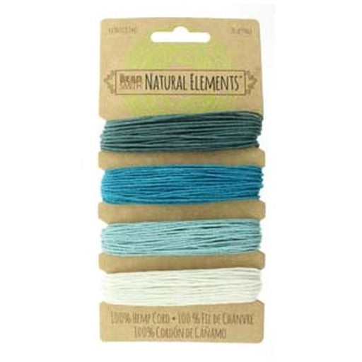 Hemp Cord 1.0Mm 20 Lb Aqua Shades