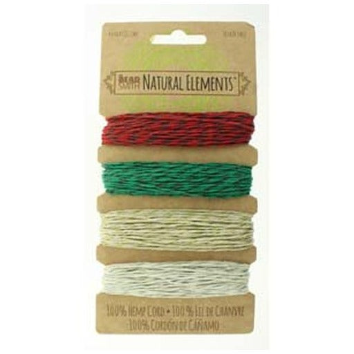 Hemp Cord 0.55Mm 10 Lb Metallic Holiday