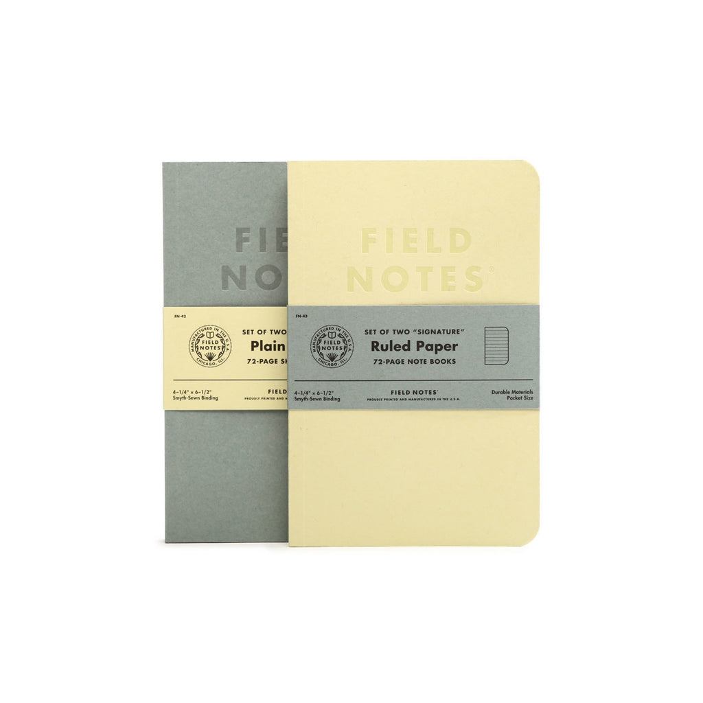 Field Notes Signature Ruled