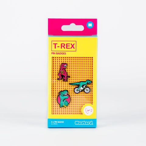 T-Rex Pin Badges