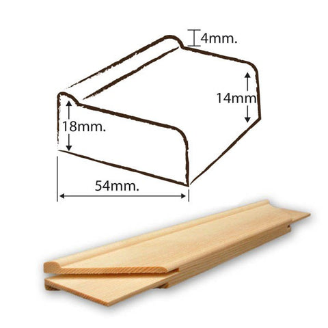 Branded Quality Stretcher Bar 18 mm x 54 mm x 10""