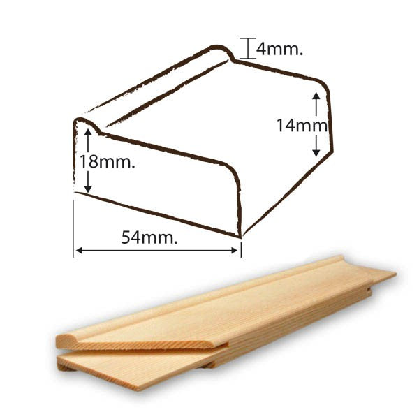 Branded Quality Stretcher Bar 18 mm x 54 mm x 44""