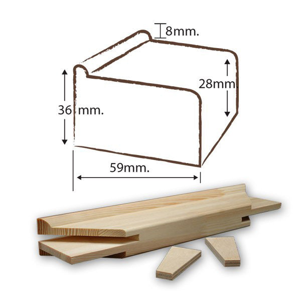 Exhibition Stretcher Bar 36 mm x 59 mm x 80.0 cm