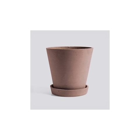 HAY - Flowerpot with Saucer - XL - Grey