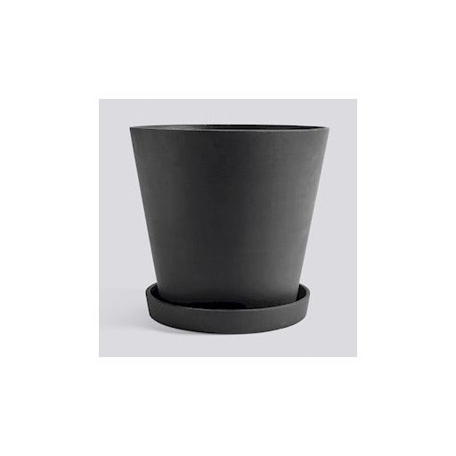 HAY - Flowerpot with Saucer - XXXL - Black