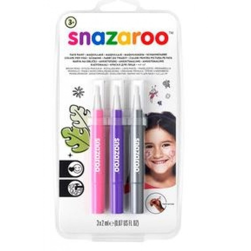 Snazaroo Face Paint Brush Pen - Fantasy - Pack of 3