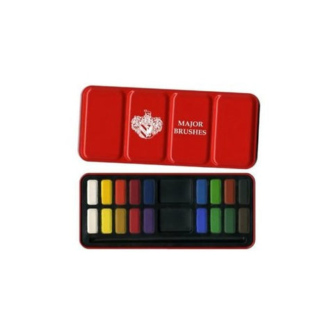 Major Brushes Watercolour Tin 18 Set