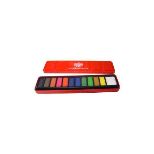 Major Brushes Watercolour Tin 12 Set