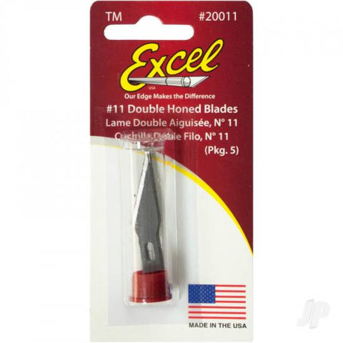 Excel #11 Double Honed Blade Pk5