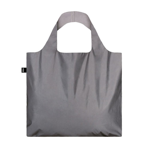 Reflective Silver Shopping Bag