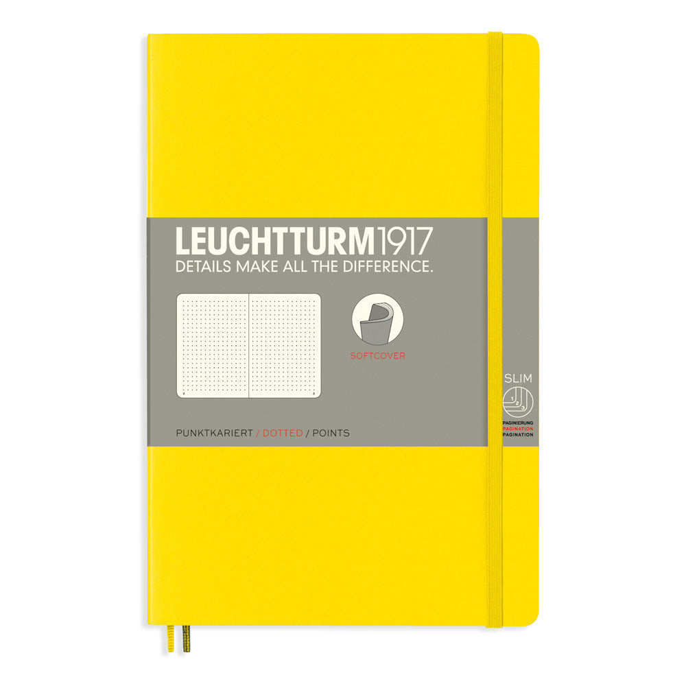 Leuchtturm1917 Paperback Notebook (B6+) - Lemon - Dotted