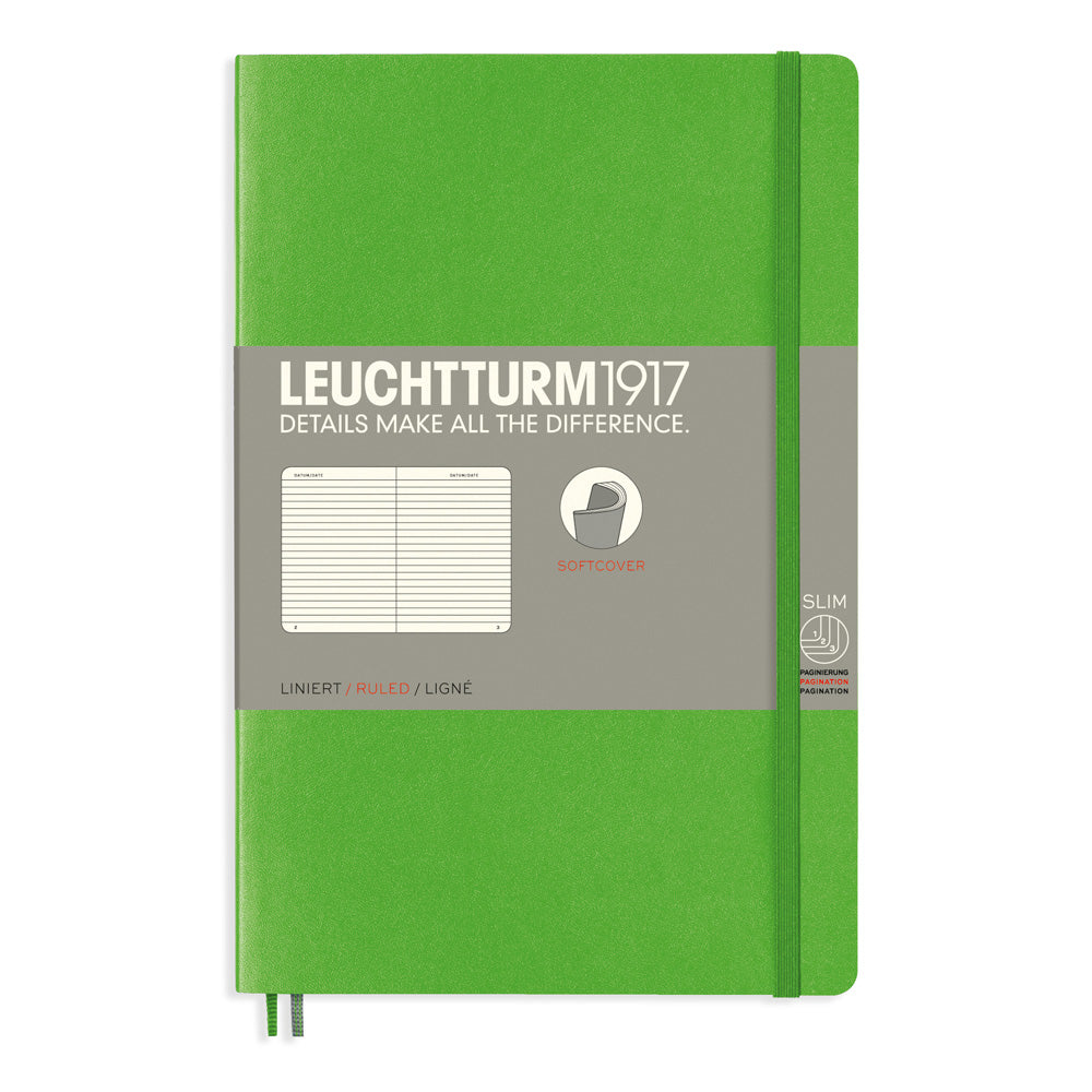 Leuchtturm1917 Paperback Notebook (B6+) - Fresh Green - Ruled