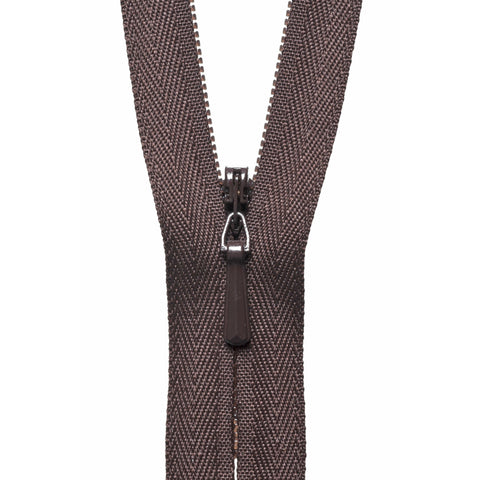 Concealed Zip - 56cm - Brown