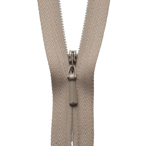 Concealed Zip - 23cm - Fawn