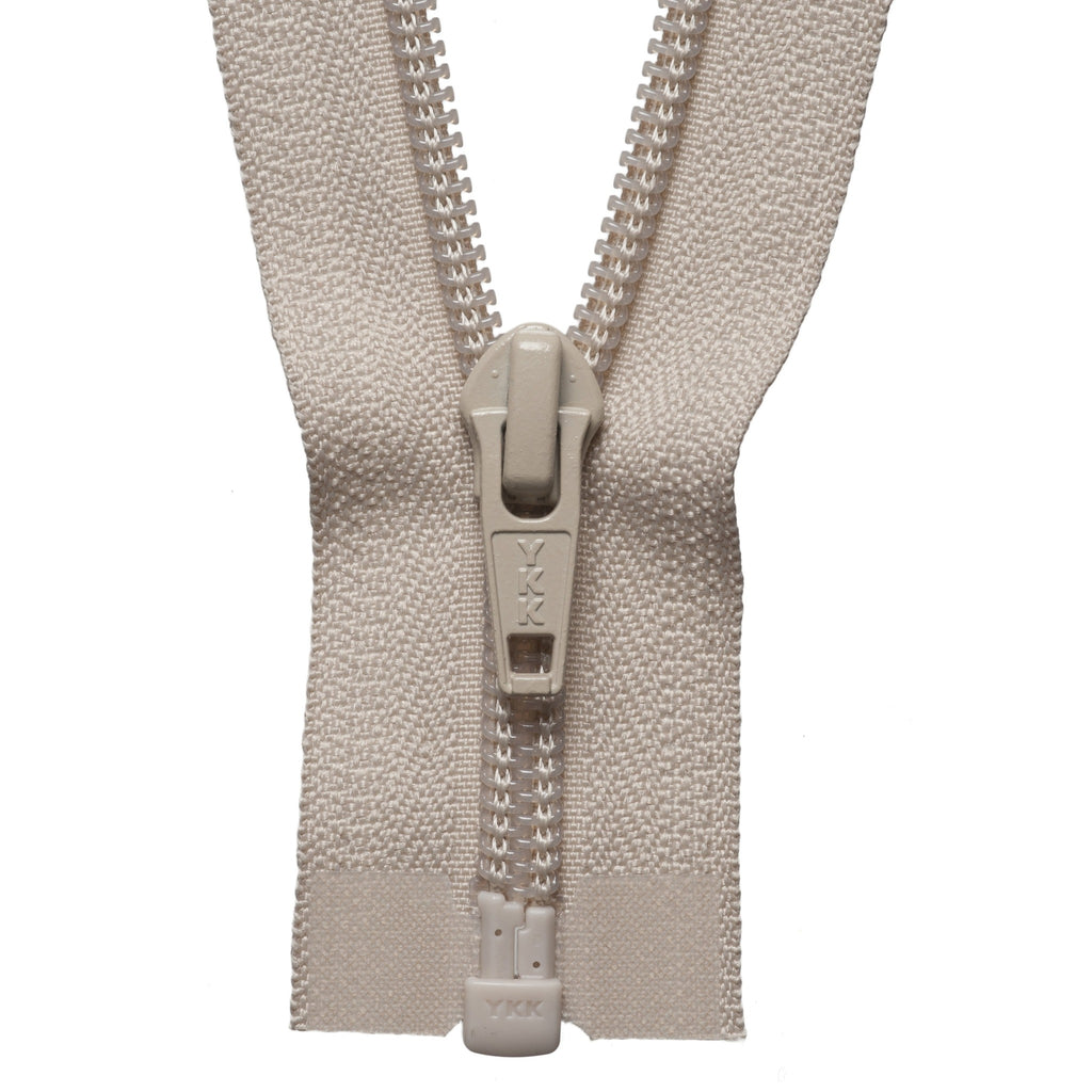 Nylon Open End Zip - 56cm - Beige