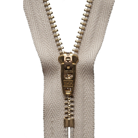Brass Jeans Zip - 15cm/5.90in - Beige