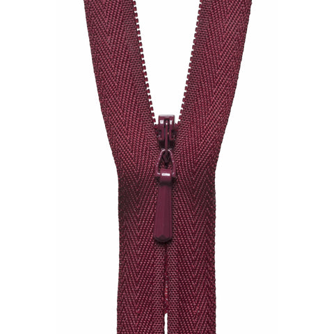 Concealed Zip - 56cm - Dark Wine