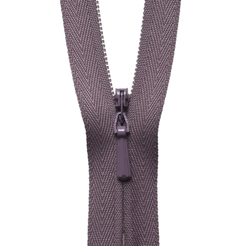 Concealed Zip - 56cm - Grape