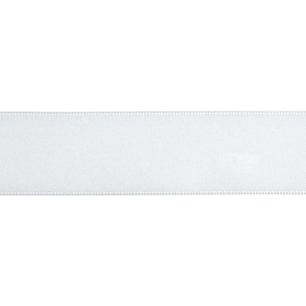 Double-Face Satin - 5m x 24mm - White