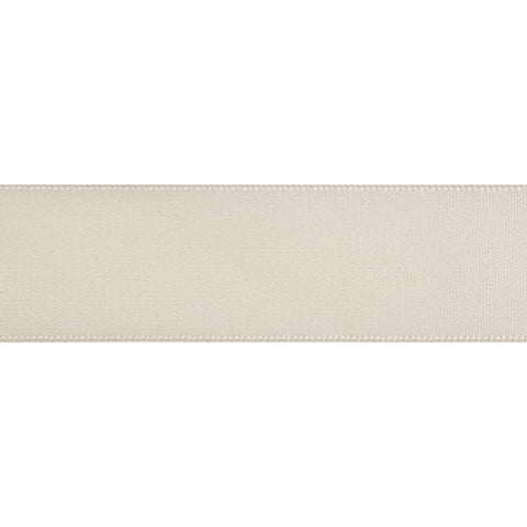 Double-Face Satin - 5m x 12mm - Cream