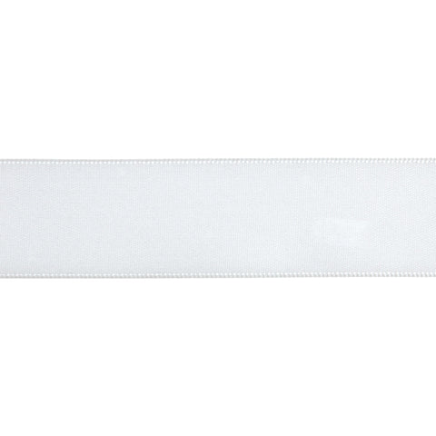 Double-Face Satin - 5m x 3mm - White