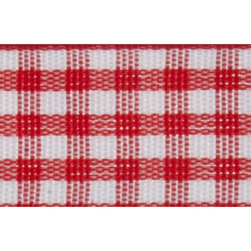 Gingham - 5m x 15mm - Red
