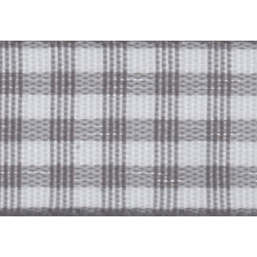 Gingham - 5m x 15mm - Grey