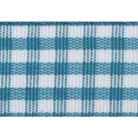 Gingham - 5m x 15mm - Teal