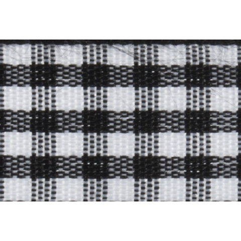 Gingham - 5m x 15mm - Black