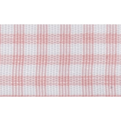 Gingham - 5m x 15mm - Pink