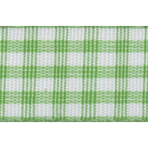 Gingham - 5m x 15mm - Green