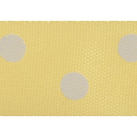 Satin - 5m x 15mm - Polka Dot - Yellow