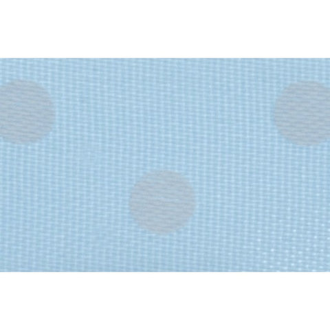 Satin - 5m x 15mm - Polka Dot - Light Blue