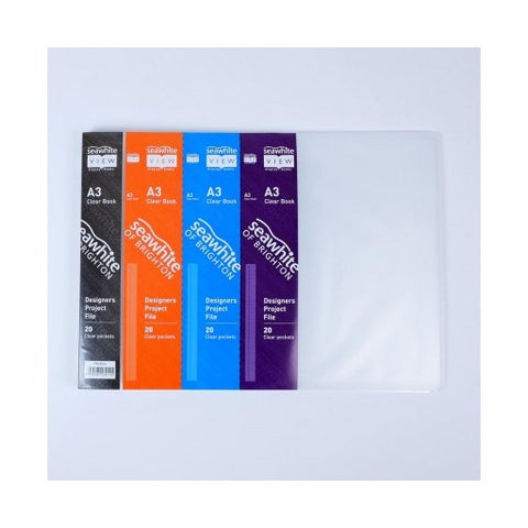 Seawhite A3 Clear Book - 20 Clear Pockets - Landscape