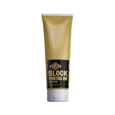 Essdee Block Printing Ink Pearlescent Yellow 300ml
