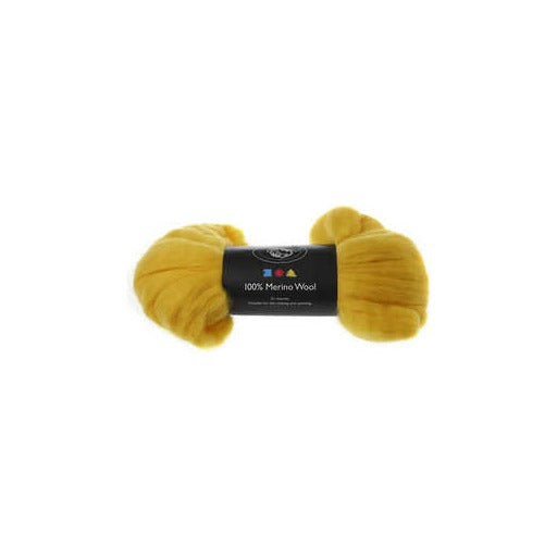 Merino Wool - Sun Yellow - 100g