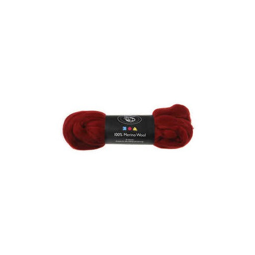 Merino Wool - Dark Red - 100g