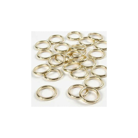 Plastic Ring - 15 mm - Gold - Pack Of 25