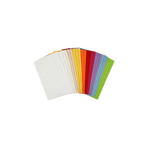 Craft Felt Sheets Pack - 24 Sheets - Assorted Colours