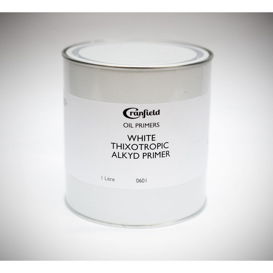 Cranfield White Thixotropic Alkyd Oil Primer 1 Litre Tin