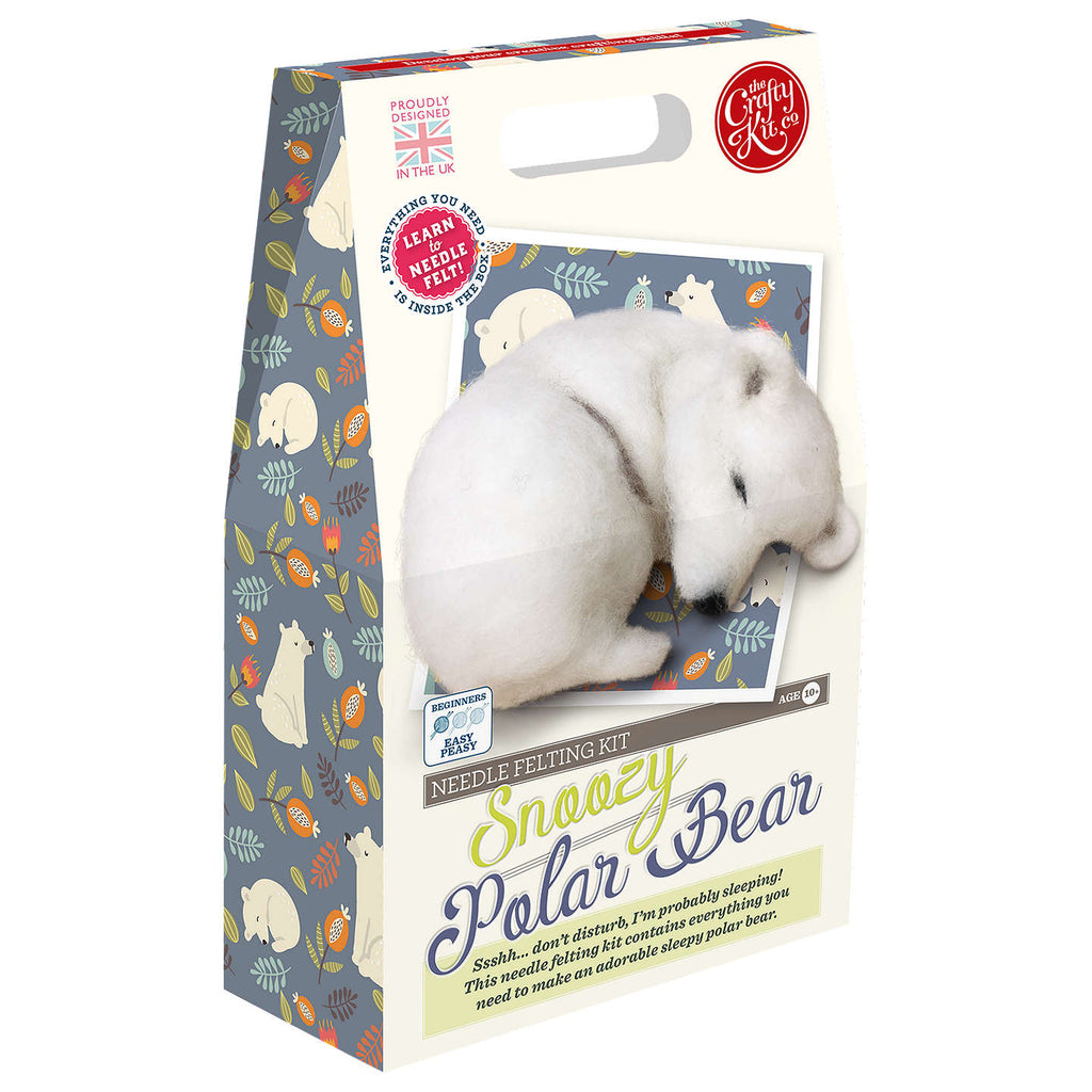 Crafty Kit Co - Snoozy Polar Bear Needle Felting Kit