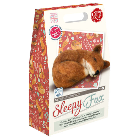 Crafty Kit Co - Sleepy Fox Needle Felting Kit
