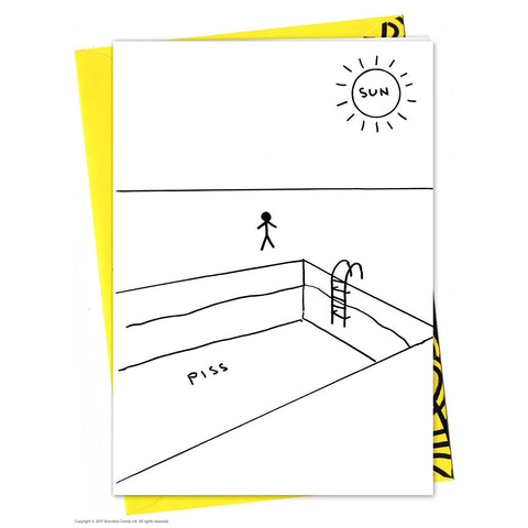 David Shrigley - Piss Pool - Card