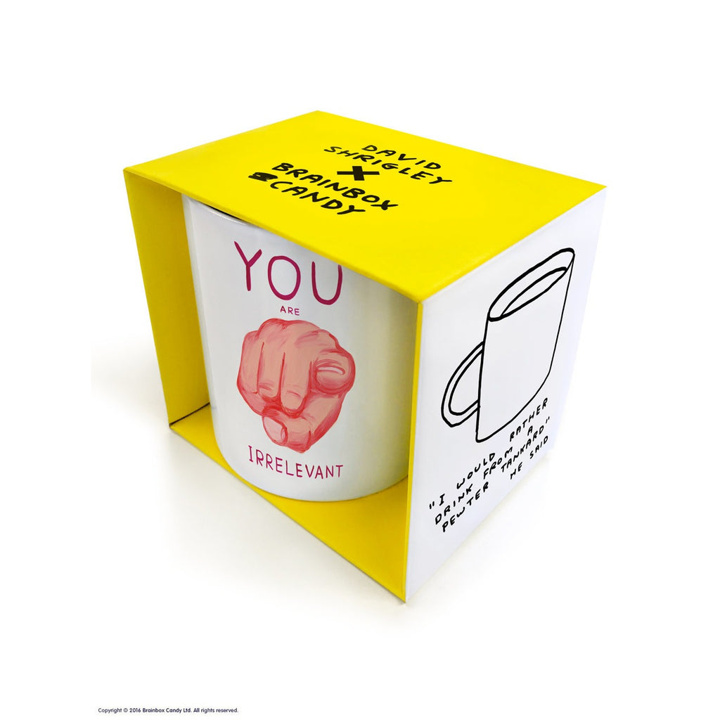 David Shrigley - You Are Irrelevant - Mug