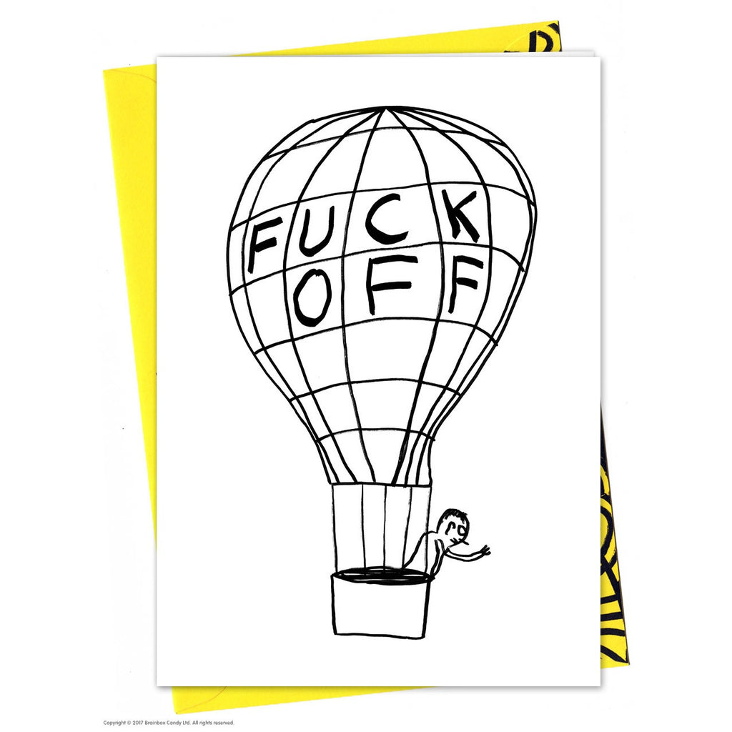 David Shrigley - Fuck Off Balloon - Card